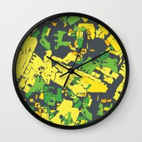 thailand Wall Clocks featuring Thailand by The Happy Scientist