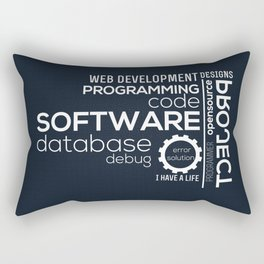 Programmer: Typography Programming Rectangular Pillow