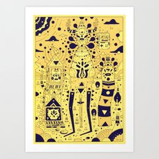tools n chums Art Print