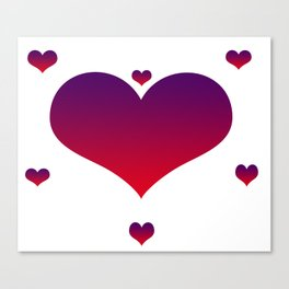 Pink & Purple Hearts Canvas Print