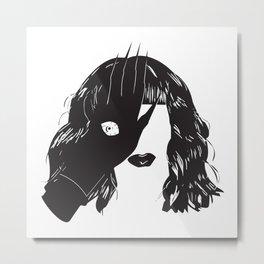Yekaterina Petrovna Zamolodchikova Black&White Metal Print