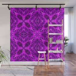 Abstract Geometric Light Factual Bright Fuchsia Wall Mural