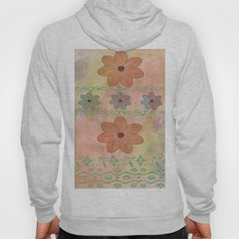 Orange floral pattern Hoody