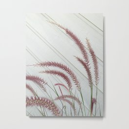 Purple Fountain Grass Metal Print