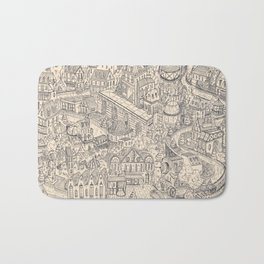 Two Channels b/w Bath Mat