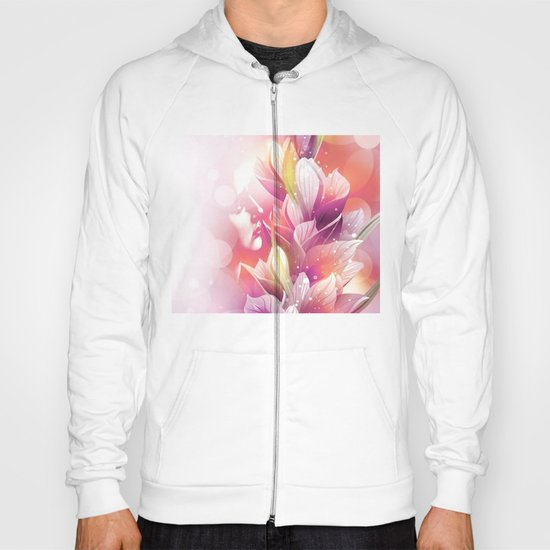 Woman And Flowers By Annie Zeno  Hoody
