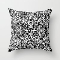henna Throw Pillows featuring Henna Inspired by Sidrah  Mahmood