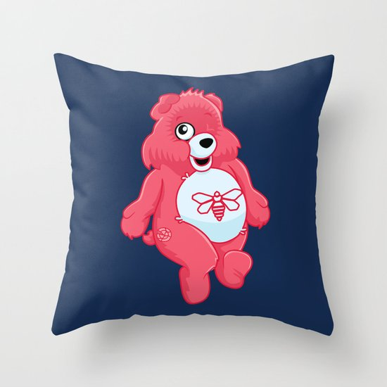 breaking bear. Throw Pillow