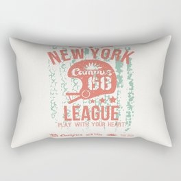The emblem of the rugby team from New York in retro style Rectangular Pillow