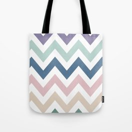 MUTED CHEVRON {COOL TONES} Tote Bag