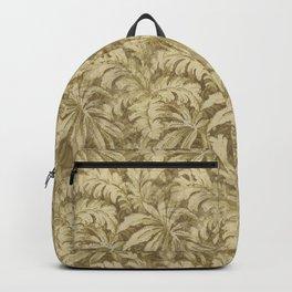 Vintage Taupe Leaves - Antique Leaf Design Backpack