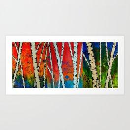 Birch Tree Stitch Art Print