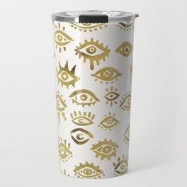 Mystic Eyes – Gold Travel Mug