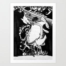 Undersea Fear Art Print