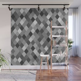 Black and White Harlequin Wall Mural