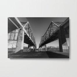 Mormon Bridge Metal Print