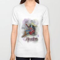 marceline V-neck T-shirts featuring Marceline  by Bunny Frost