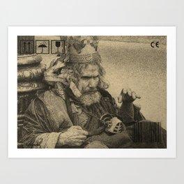 The Man In The Box Art Print