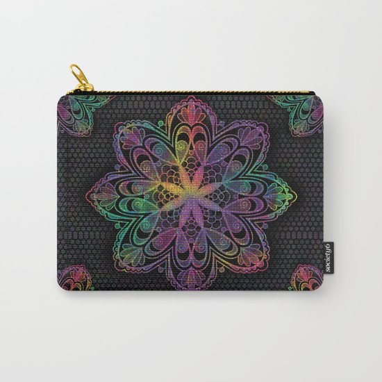 Kaleidoscope Mandala Carry-All Pouch