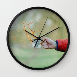 Spill the Coffee (Color) Wall Clock