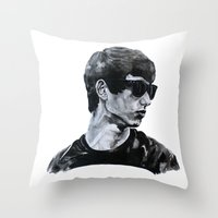 sunglasses Throw Pillows featuring Sunglasses by Charlotte Massey