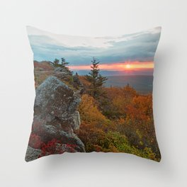 Autumn Dolly Sods Sunrise Throw Pillow