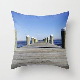Docks Throw Pillow