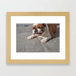 Sneezing Pickles Framed Art Print