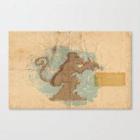 monkey island Canvas Prints featuring Monkey Island by sergio37