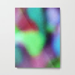 pixelated watercolor IX after dark Metal Print