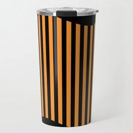Etoide Jingga Orange Black Stripes Travel Mug