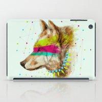 selena gomez iPad Cases featuring Cherokee Wolf II by dogooder