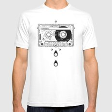 Snapped Up Market - Music White Mens Fitted Tee MEDIUM