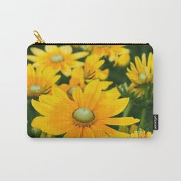 GOLDEN YELLOW  FLOWERS  GARDEN Carry-All Pouch