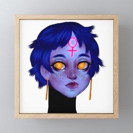 Femm Head Framed Mini Art Print