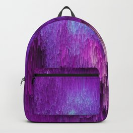 Shatter Falls - Abstract Glitch Pixel Art Backpack