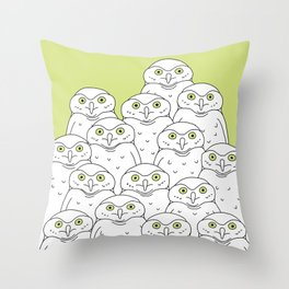 Group of Owls Throw Pillow