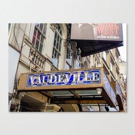 Vaudeville Theatre Canvas Print