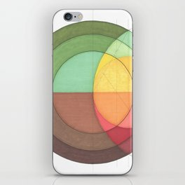 Concentric Circles Forming Equal Areas iPhone Skin