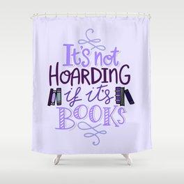 Book Hoarder - Purple Shower Curtain