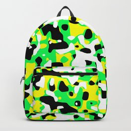 Uncovered Camouflage Neon Green Backpack