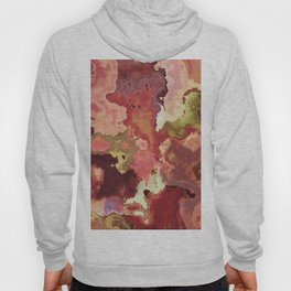 Peach & Gold Marble - abstract Art by Fluid Nature Hoody