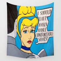 cinderella Wall Tapestries featuring Cinderella by Gabrielle Wall