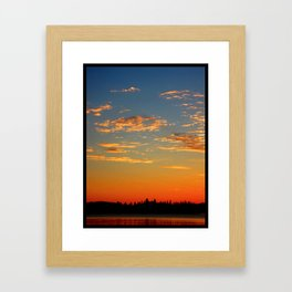 Sunset over Pines  Framed Art Print