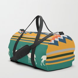 Ethnic Christmas pattern with deer Duffle Bag