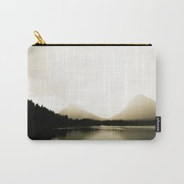 Golden Landscape Shimmering Lake and Foggy Mountains Carry-All Pouch