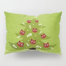 Cat Christmas Tree Pillow Sham