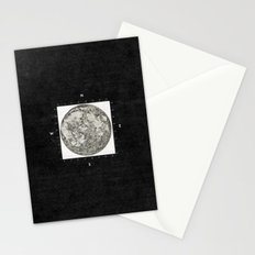 Moon Scale [Sans Black] Stationery Cards
