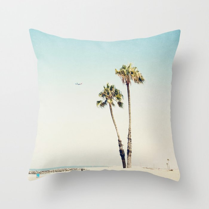 Palm Beach Style Pillows : Palm Tree Beach Throw Pillow by maddenphotography Society6