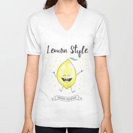 Lemon Style Unisex V-Neck
